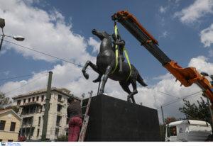 Άγαλμα του Μεγάλου Αλεξάνδρου τοποθετήθηκε στο κέντρο της Αθήνας [pics]