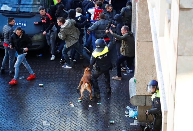 Άγιαξ – Γιουβέντους: Σφοδρά επεισόδια και 116 συλλήψεις οπαδών! [vids, pics]