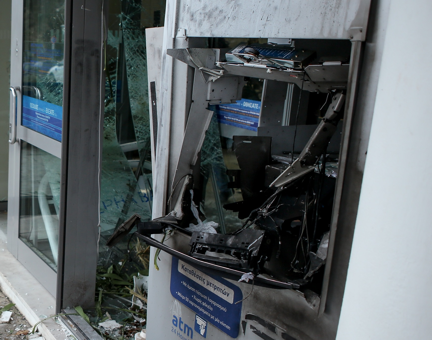 Ανατίναξαν ΑΤΜ τράπεζας στο Παλαιό Φάληρο