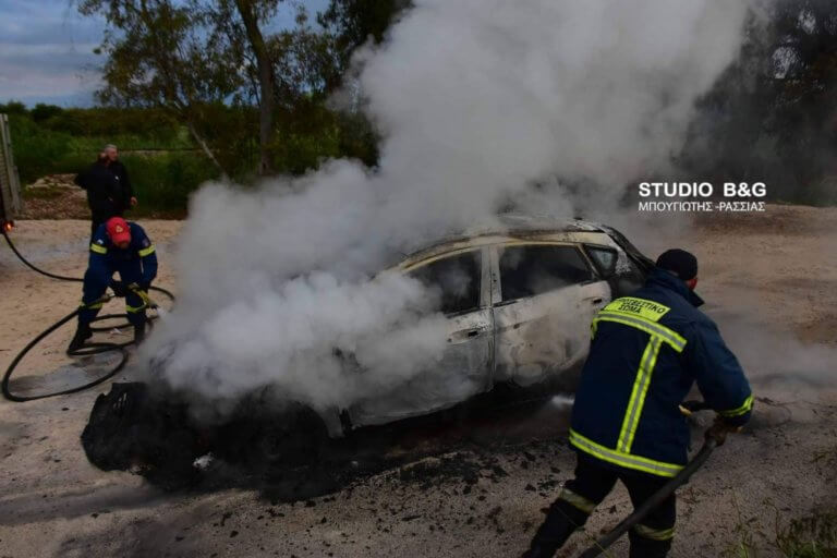 Αργολίδα: Μετά τη ληστεία έκαψαν το αυτοκίνητο – video