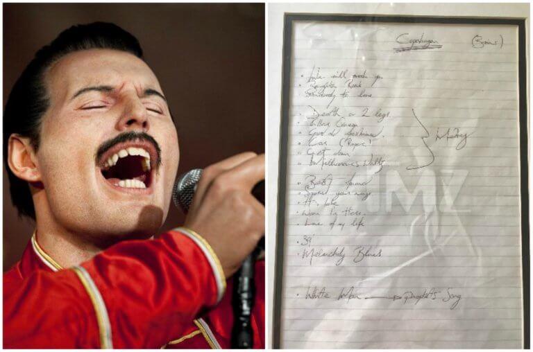 Σε δημοπρασία σπάνιο χειρόγραφο του Freddie Mercury! [pics]