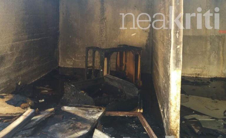 Ηράκλειο: Εικόνες καταστροφής σε παλιά έκθεση επίπλων – Άφησε μόνο στάχτη πίσω της η φωτιά