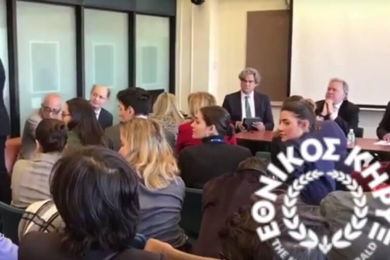 Τα άκουσε ο Γιώργος Κατρούγκαλος στο Κολούμπια για τη Συμφωνία των Πρεσπών – video
