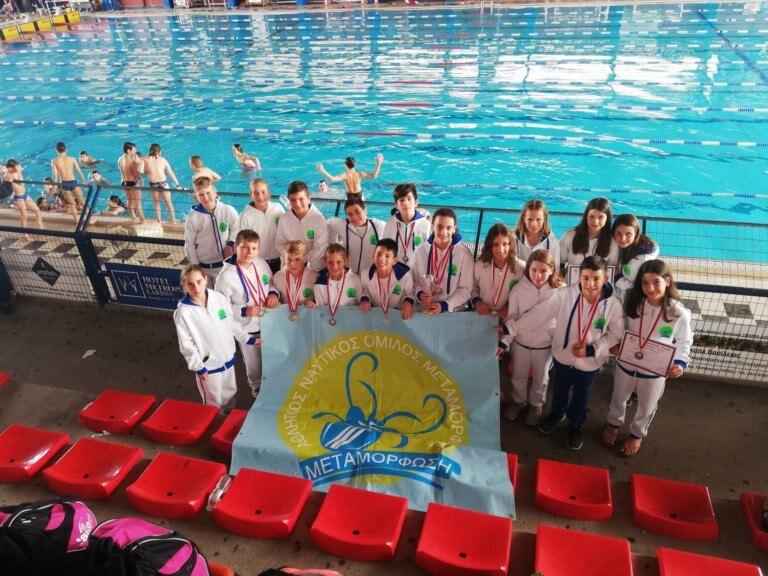 """Κολύμβηση: Έλαμψαν τα """"δελφίνια"""" του ΑΝΟ Μεταμόρφωσης!"""