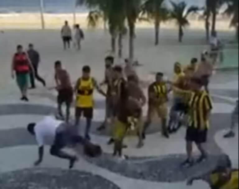 Απίστευτο ξύλο μεταξύ οπαδών! Τραυματίστηκε στο κεφάλι από μπουκάλι – video