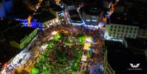 Λαμία: Η συνάντηση των Επιταφίων από ψηλά – Εντυπωσιακό βίντεο από drone