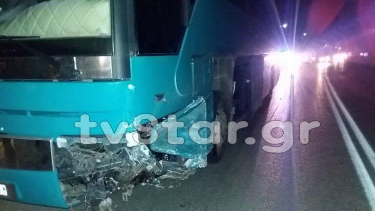 Εύβοια: Σοβαρός τραυματισμός 14χρονου σε σύγκρουση λεωφορείου με αυτοκίνητο – Διακομίστηκε στην Αθήνα [pics]
