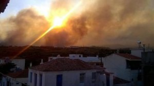 Μεγάλη φωτιά στην Ηλεία! Πηγαίνουν αεροσκάφη από την Ελευσίνα