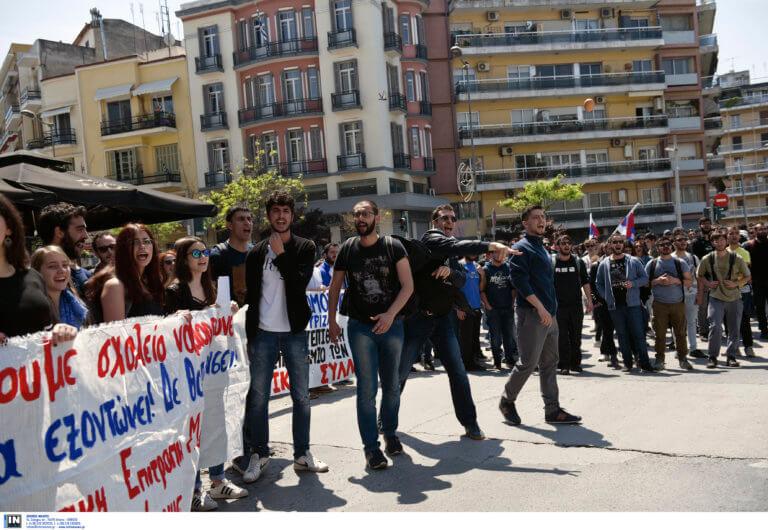 Διαμαρτυρία για την παιδεία στη Θεσσαλονίκη
