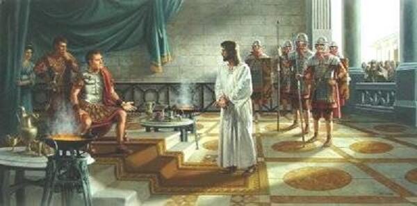 Αποτέλεσμα εικόνας για Χριστός και Πόντιος Πιλάτος;