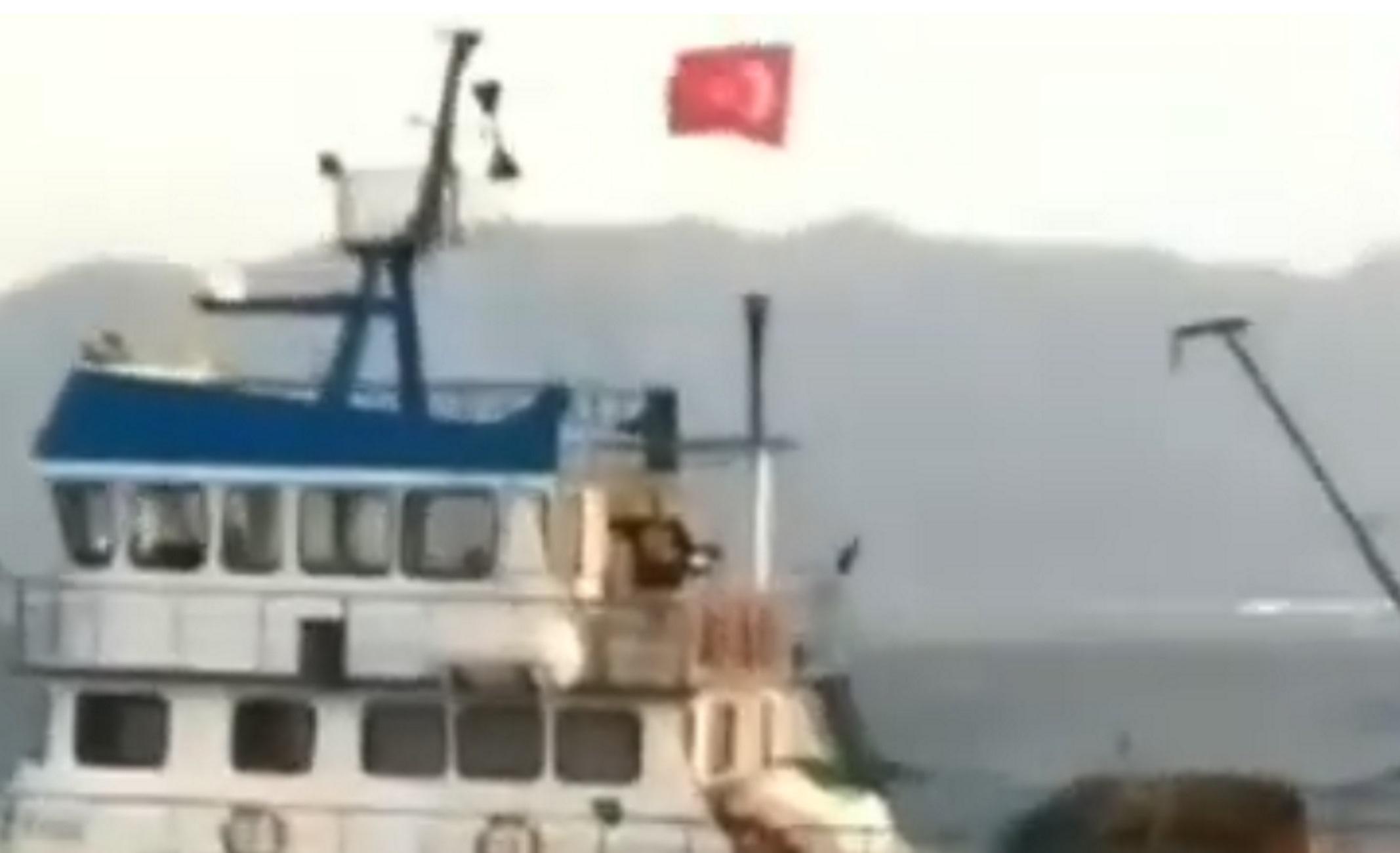 """Ψέριμος: """"Ρε αλήτες εδώ είναι Ελλάδα"""" – Η στιγμή που Τούρκοι ψαράδες ξεπερνούν κάθε όριο – video"""