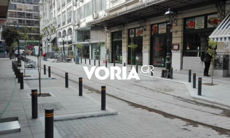 """Θεσσαλονίκη: """"Ζωντανεύει"""" το τραμ της πόλης – Αλλάζει όψη η Αγίου Μηνά μετά την ανάπλαση [pic]"""