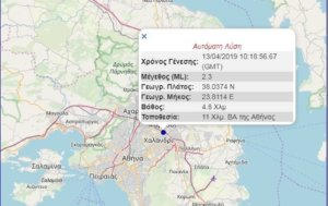 Σεισμός 2.3 Ρίχτερ στην Αθήνα