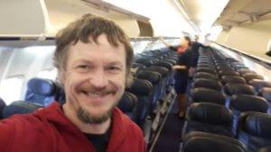 Μόνος του σε ένα Boeing! Ο πιο ατρόμητος επιβάτης!