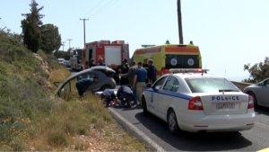 Χανιά: Εγκλωβίστηκαν τραυματίες μετά από τροχαίο στον Βλητέ [pics]