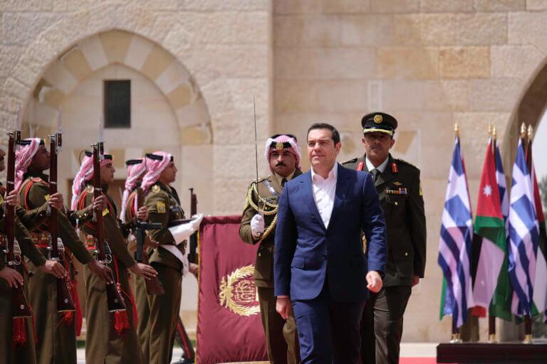 """Τσίπρας στο Αμμάν: """"Η συνεργασία μας ενδυναμώνει τη στρατηγική για ειρήνη και σταθερότητα στην ανατολική Μεσόγειο"""""""