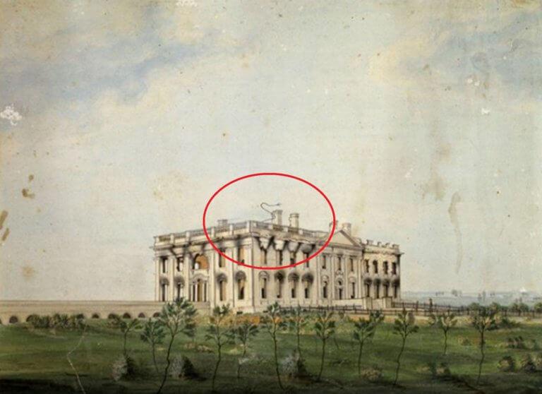 Λευκός Οίκος: Συναρπαστική αποκάλυψη για την ακαθόριστη γραμμή στο καμένο κτίριο! [pics]