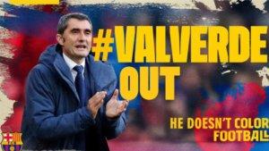 """Μπαρτσελόνα: """"Έκρηξη"""" οπαδών κατά Βαλβέρδε! Κίνημα… #ValverdeOut"""