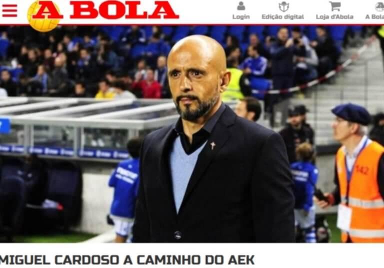 «A Bola»: «Στο δρόμο για την ΑΕΚ ο Καρντόσο»