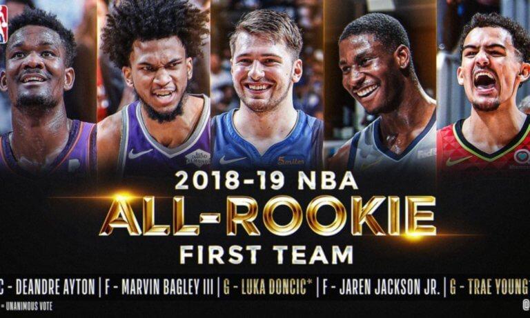 NBA: Με Ντόντσιτς η κορυφαία πεντάδα των ρούκι!