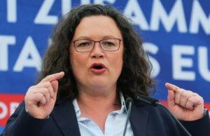 Ευρωεκλογές 2019 – Τα αποτελέσματα της κάλπης κρίνουν την τύχη της Αρχηγού του SPD Αντρέα Νάλες!