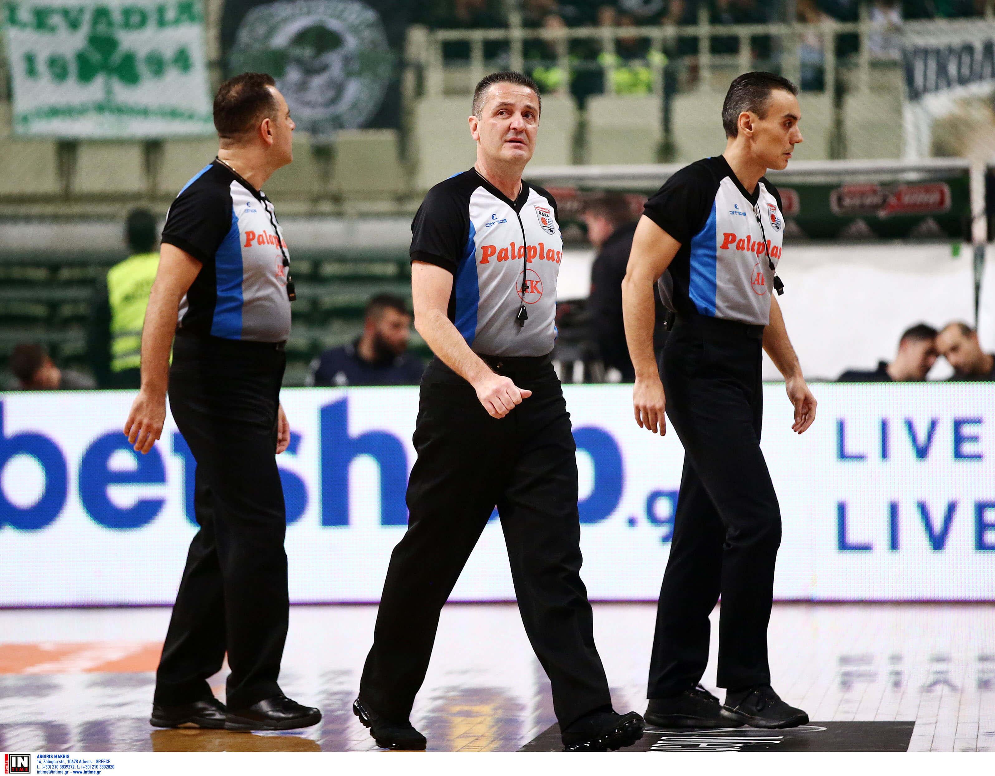 Basket League: Τέλος οι Αναστόπουλος και Σχινάς από την ελληνική διαιτησία