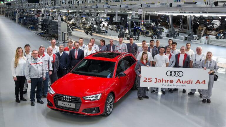 Η Audi γιορτάζει τα 25 χρόνια του A4