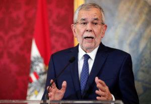 Αυστρία: «Θα τα καταφέρουμε» διαμηνύει ο πρόεδρος Βαν ντερ Μπέλεν