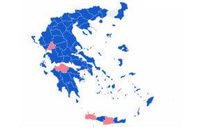 Αποτελέσματα εκλογών – Περιφέρειες: «Γαλάζιες» οι 12 από τις 13 – Θρίλερ στην Πελοπόννησο