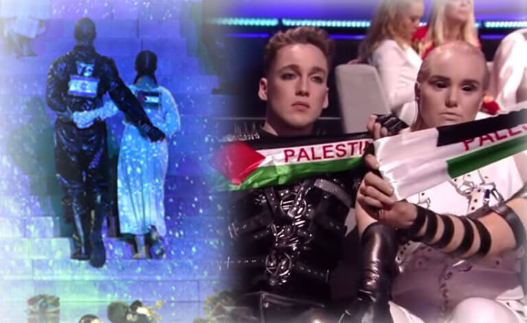 Eurovision 2019: Μαντόνα και Ισλανδία τους έπιασαν στον… «ύπνο» με τις παλαιστινιακές σημαίες