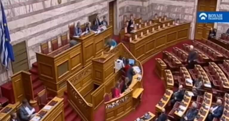 Χριστοφιλοπούλου: Γλίστρησε στα σκαλιά ανεβαίνοντας να μιλήσει στη Βουλή