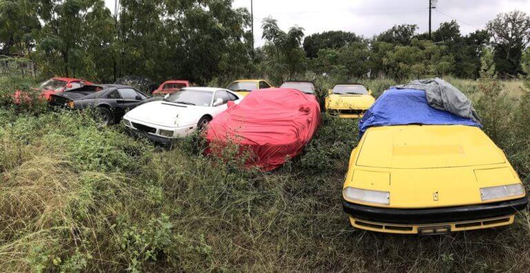 Μια ντουζίνα Ferrari βρέθηκαν πεταμένες σε χωράφι! [pics]
