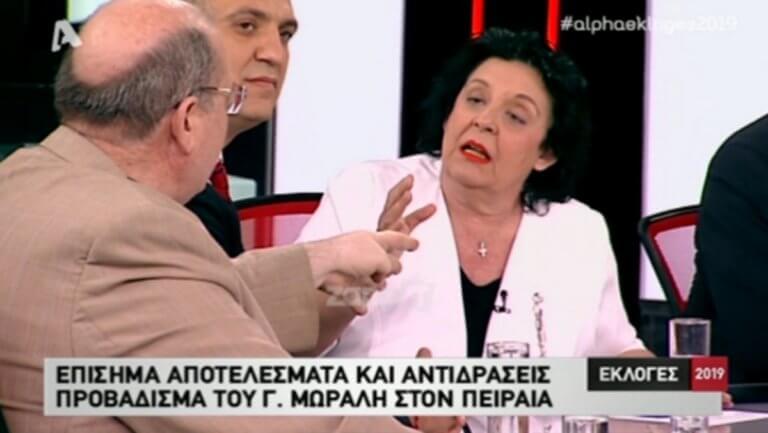 """Εκλογές 2019: """"Αρπάχτηκαν"""" Κανέλλη – Φίλης στον αέρα του Alpha!"""