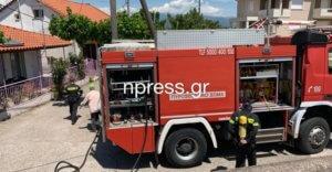 Φωτιά σε σπίτι στη Ναύπακτο – video