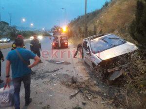 Ηράκλειο: Τρομακτικό τροχαίο – Στο νοσοκομείο ο οδηγός – video