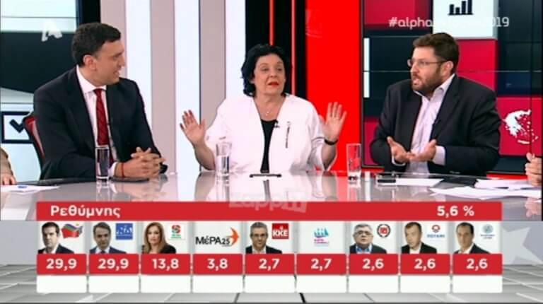 Εκλογές 2019: Επεισόδιο Ζαχαριάδη – Κικίλια στον Alpha! «Σας τρέχουν τα σάλια;» – «Προσέξτε τις εκφράσεις σας»