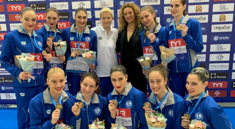 «Χάλκινα» τα κορίτσια της Συγχρονισμένης Κολύμβησης στην Ρωσία