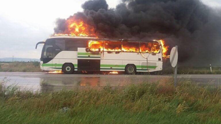 Βουλγαρία: Λεωφορείο που μετέφερε παιδιά άρπαξε φωτιά!