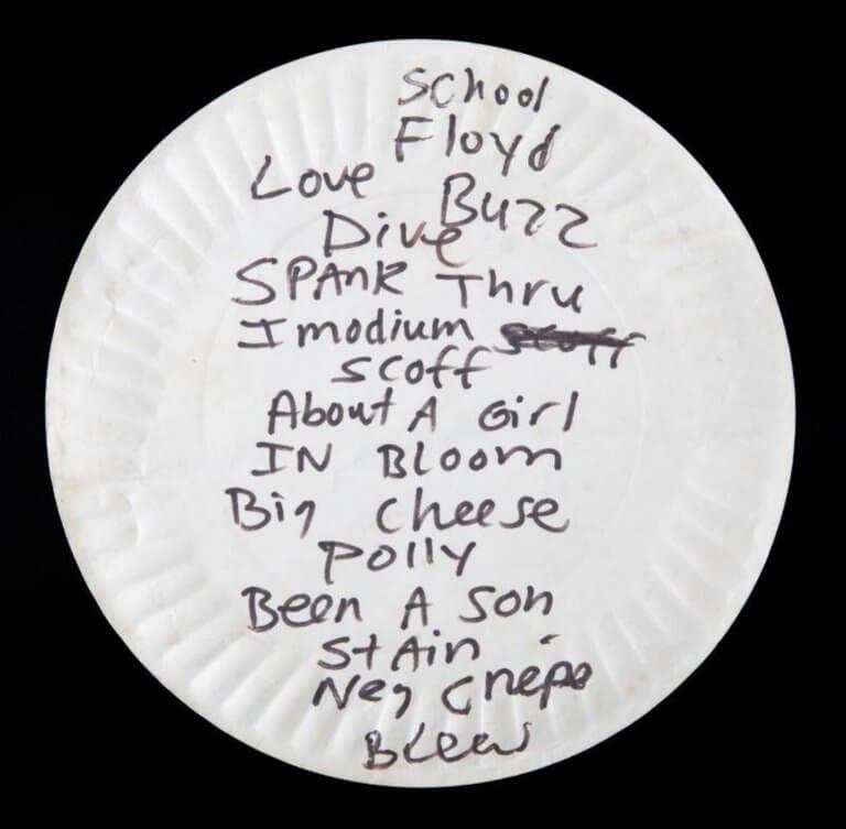 Ένα… χρησιμοποιημένο χάρτινο πιάτο του Κερτ Κομπέιν πουλήθηκε για 22.400 δολάρια!