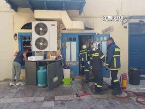 Φωτιά σε εστιατόριο του Ναυπλίου – video