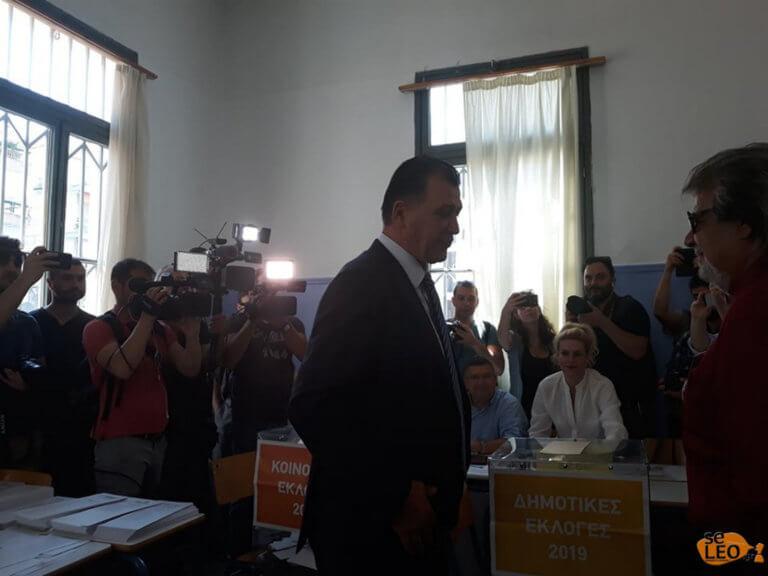 Εκλογές 2019: Ψήφισε ο υποψήφιος Δήμαρχος Θεσσαλονίκης Γιώργος Ορφανός