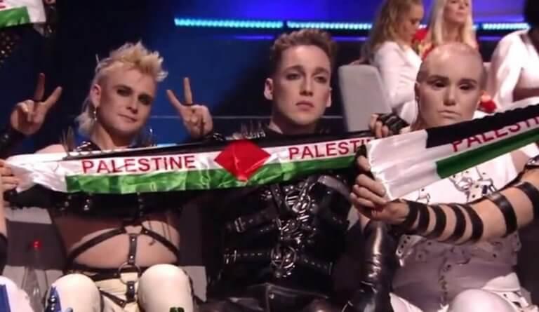 Eurovision 2019: Η στιγμή που οι Ισλανδοί σηκώνουν πανό υπέρ της Παλαιστίνης!