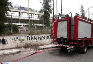 Φωτιά στο κλειστό γήπεδο του Πανιωνίου – video