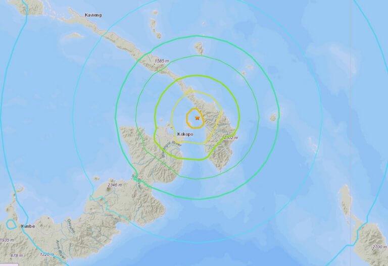 Άρση της προειδοποίησης για τσουνάμι στην Παπούα Νέα Γουινέα