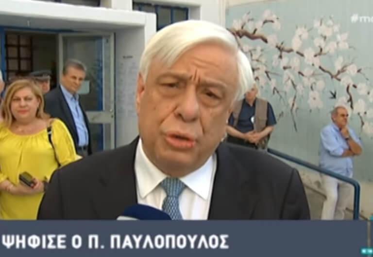 Εκλογές 2019: Στο Νέο Ψυχικό ψήφισε ο Προκόπης Παυλόπουλος