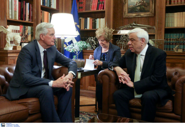 Παυλόπουλος σε Μπαρνιέ: Υπερασπισθήκατε την Διεθνή Νομιμότητα στο θέμα της Κύπρου [pics]