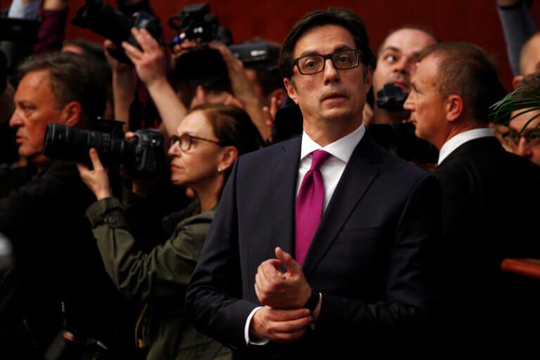Ο Στέβο Πεντάροφσκι ορκίστηκε νέος πρόεδρος της Βόρειας Μακεδονίας [pics]