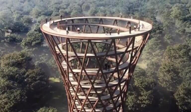 Σε προκαλεί να σκαρφαλώσεις! Δείτε τον πύργο – κλεψύδρα στη Δανία! video