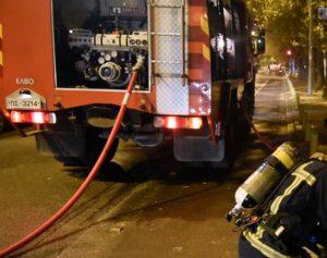 Φορτηγό «άρπαξε» φωτιά στον ΒΟΑΚ