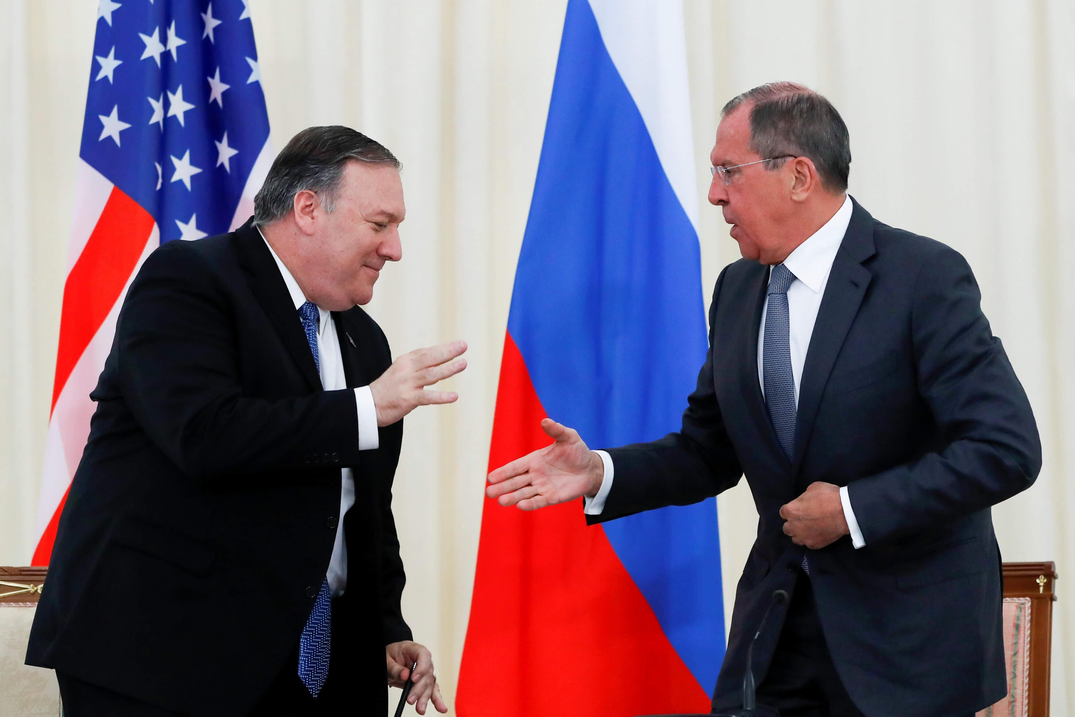 """""""Ναι μεν αλλά"""", λένε Πομπέο και Λαβρόφ για την εξομάλυνση των σχέσεων ΗΠΑ – Ρωσίας"""
